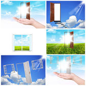 Windows and doors — Stock Photo