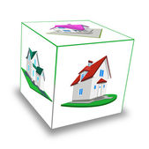 Cube. Frame-house — Stock Photo