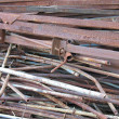 Abstract rusty scrap metal junk iron garbage — Stock Photo