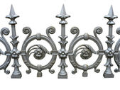 Forged decorative fence isolated over white — Stock Photo