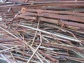 Lixo de metal ferro sucata sucata enferrujada abstrata — Fotografia Stock