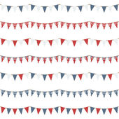 Uk party bunting — Stock Vector