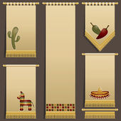 Mexican wall hangings — Stock Vector