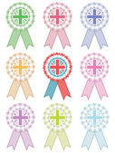 Uk rosettes — Stock Vector
