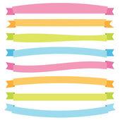 Cintas brillantes banner — Vector de stock