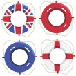 Uk life savers — Vector de stock #10137699