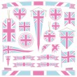 Pink and blue great britain — Stock Vector