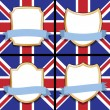 Uk shields — Stock Vector