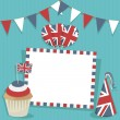 Uk party card — Stock Vector