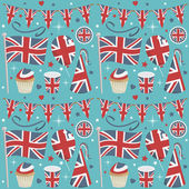 Uk party pattern — Stockvector