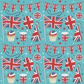 Verenigd koninkrijk partij patroon — Stockvector