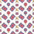 Union jack pattern — Stock Vector