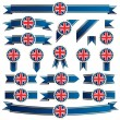 Uk ribbons — Stock Vector