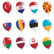 Flag balloons — Stock Vector