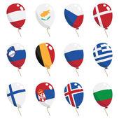 Flag balloons — Stock Vector