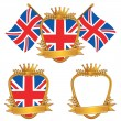 Uk emblems — Stock Vector