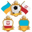 Poland and ukraine emblems — Stock Vector