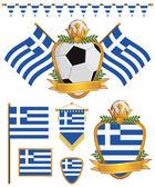 Greece flags — Stock Vector