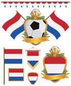 Netherlands flags — Stock Vector
