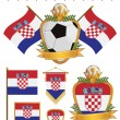 Stock Vector: Croatia flags