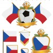 Royalty-Free Stock Vector Image: Czech republic flags