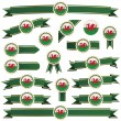 Stock Vector: Wales ribbons