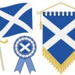 Scotland flags — Stockvectorbeeld