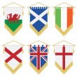 Royalty-Free Stock Vector Image: Uk and ireland pennants