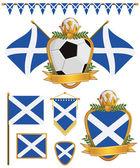 Scotland flags — Stock Vector