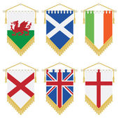 Uk and ireland pennants — Stock Vector