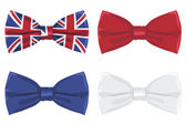 Uk bow tie — Stock Vector