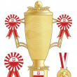 Poland football trophy — Stock Vector