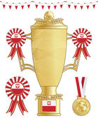 Poland football trophy — Stock Vector