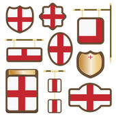 England wooden plaques — Stock Vector