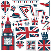 Uk elements — Stock Vector