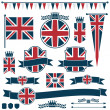 Stock Vector: uk flags and ribbons