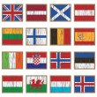 Distressed wooden flags — Stock Vector