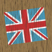 Distressed uk flag — Stock Vector