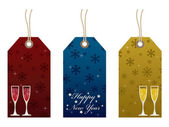 New year tags — Stock Vector