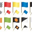 Formula one flags — Stockvectorbeeld