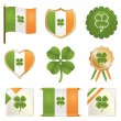 Stock Vector: Lucky irish badges