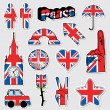 Union jack stickers - Stock Vector
