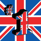 Number one britain — Stock Vector