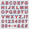 Great britain alphabet — Stock Vector