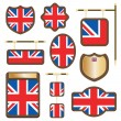 Stock Vector: Uk wooden plaques