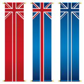 Union jack banners — Stock Vector