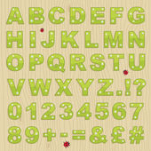 Flower alphabet — Stockvektor