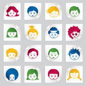 Kids stickers — Stock Vector