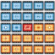 Film strip stills — Stock Vector
