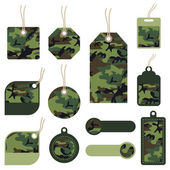 Camouflage tags — Stock Vector